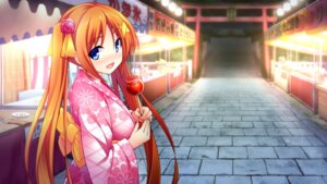 Rating: Safe Score: 42 Tags: chiri_(atlanta) chuablesoft game_cg hinohara_kei wagaya_no_himegami-sama! yukata User: abdulaziz5