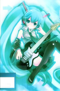 Rating: Safe Score: 7 Tags: guitar hatsune_miku shimeko thighhighs vocaloid User: Radioactive