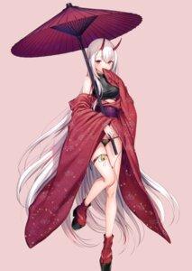 Rating: Questionable Score: 81 Tags: garter horns kimono komeshiro_kasu pantsu User: kiyoe