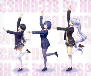 Rating: Safe Score: 15 Tags: heels higuchi_kaede kath nijisanji pantyhose seifuku shizuka_rin skirt_lift sweater thighhighs tsukino_mito User: Mr_GT