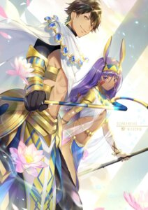 Rating: Safe Score: 15 Tags: animal_ears armor bunny_ears ekita_gen fate/grand_order nitocris_(fate/grand_order) ozymandias_(fate/grand_order) weapon User: RyuZU