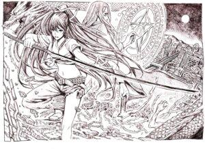 Rating: Safe Score: 8 Tags: kanzaki_kaori monochrome nobita stiyl_magnus sword to_aru_majutsu_no_index User: charunetra