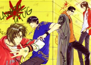 Rating: Safe Score: 3 Tags: clamp gap himura_rikuou kakei_(legal_drug) kudou_kazahaya legal_drug male saiga User: Share