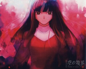 Rating: Safe Score: 6 Tags: asagami_fujino kara_no_kyoukai paper_texture takeuchi_takashi type-moon wallpaper User: demonbane1349