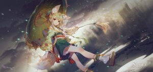 Rating: Safe Score: 35 Tags: animal_ears japanese_clothes sdorica_-sunset- tagme tail umbrella User: BattlequeenYume
