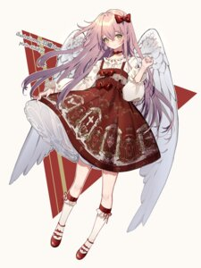Rating: Questionable Score: 15 Tags: angel dress skirt_lift wings yuzhi User: sym455