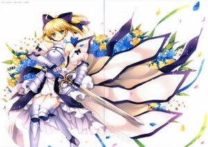 Rating: Safe Score: 15 Tags: armor capura.l eternal_phantasia fate/stay_night fate/unlimited_codes gap saber saber_lily sword thighhighs User: blooregardo