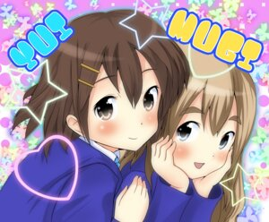 Rating: Safe Score: 8 Tags: hirasawa_yui k-on! kotobuki_tsumugi masamuu User: Riven