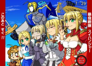 Rating: Safe Score: 15 Tags: fate/extra fate/stay_night saber saber_alter saber_extra saber_lily saber_lion slug User: Aurelia