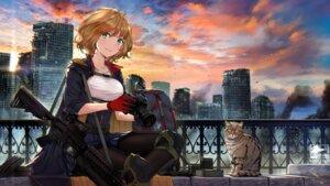 Rating: Safe Score: 15 Tags: alphatitus armor gun neko pantyhose User: Mr_GT