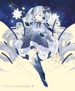 Rating: Safe Score: 22 Tags: dress fishnets fuyu_no_yoru_miku hatsune_miku miyuki_(miyuki_05290) vocaloid User: charunetra