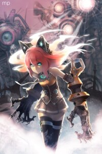 Rating: Safe Score: 28 Tags: animal_ears dress ladic mecha_musume seeu thighhighs vocaloid User: eridani
