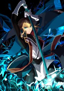 Rating: Safe Score: 8 Tags: blazblue happy_birthday kisaragi_jin male selenoring sword User: charunetra
