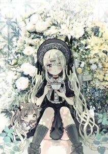Rating: Safe Score: 10 Tags: animal_ears chibi dress gothic_lolita lolita_fashion nekomimi sakura_oriko skirt_lift tagme tail User: Dreista