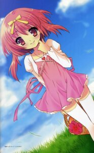 Rating: Safe Score: 15 Tags: akihime_sumomo dress ito_noizi nanatsuiro_drops thighhighs User: strawberryheaven