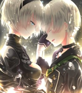 Rating: Safe Score: 16 Tags: dress hatamu_26 nier_automata yorha_no.2_type_b yorha_no._9_type_s User: mash