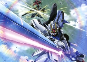 Rating: Safe Score: 10 Tags: gundam gundam_seed mecha strike_gundam User: Radioactive