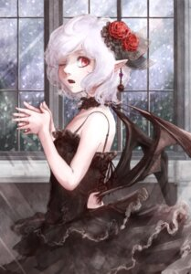 Rating: Safe Score: 27 Tags: dress hoshibuchi pointy_ears remilia_scarlet touhou wings User: Mr_GT