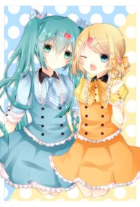 Rating: Safe Score: 26 Tags: hatsune_miku kagamine_rin lolita_fashion souhi vocaloid User: mahoru