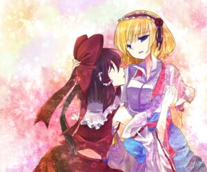 Rating: Safe Score: 11 Tags: alice_margatroid hakurei_reimu miki_(fl32) touhou yuri User: Radioactive