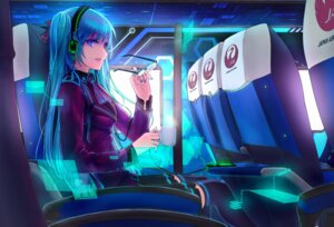 Rating: Safe Score: 60 Tags: hatsune_miku headphones hourai_no_hangentsuki megane thighhighs vocaloid User: blooregardo