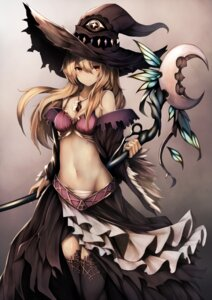Rating: Questionable Score: 77 Tags: bra cleavage dorothy_(shadowverse) inaba_sunimi nopan open_shirt shadowverse thighhighs weapon witch User: Mr_GT