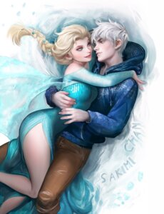 Rating: Safe Score: 31 Tags: dress elsa_(frozen) frozen jack_frost_(rise_of_the_guardians) sakimichan User: tapoutlacie