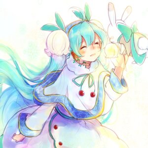 Rating: Safe Score: 18 Tags: dress hatsune_miku vocaloid yuki_miku User: gerbil193