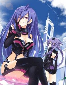 Rating: Safe Score: 40 Tags: ass bodysuit choujigen_game_neptune cleavage iris_heart kami_jigen_game_neptune_v purple_heart stockings thighhighs zero_(ray_0805) User: Nepcoheart