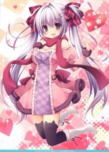 Rating: Safe Score: 31 Tags: cleavage nanaroba_hana possible_duplicate thighhighs valentine User: kiyoe