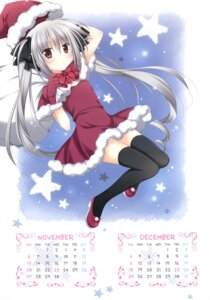 Rating: Questionable Score: 39 Tags: calendar christmas dress hakoniwa_no_gakuen komiya_rio korie_riko mujin_shoujo thighhighs User: Twinsenzw