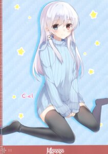 Rating: Questionable Score: 19 Tags: dress heterochromia mishima_kurone sweater thighhighs User: Radioactive
