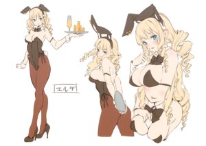 Rating: Questionable Score: 7 Tags: animal_ears breast_hold bunny_ears bunny_girl cleavage heels paseri sketch User: Hatsukoi