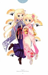 Rating: Safe Score: 47 Tags: alice_cartelet hara_yui kimono kin'iro_mosaic kujou_karen User: yong