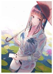 Rating: Questionable Score: 34 Tags: bra dress_shirt kayako pantsu see_through tagme umbrella wet wet_clothes User: BattlequeenYume