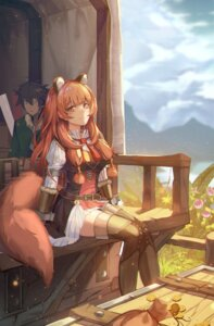 Rating: Safe Score: 32 Tags: animal_ears iwatani_naofumi nomen raphtalia tail tate_no_yuusha_no_nariagari thighhighs User: Dreista