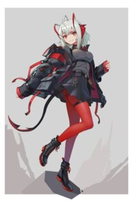 Rating: Safe Score: 16 Tags: arknights garter horns pantyhose sima_naoteng tail w_(arknights) User: Dreista