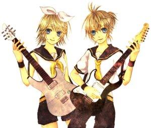 Rating: Safe Score: 4 Tags: guitar ichigo_(pixiv1153778) kagamine_len kagamine_rin vocaloid User: Radioactive