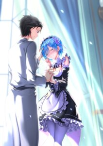 Rating: Safe Score: 46 Tags: cleavage maid natsuki_subaru re_zero_kara_hajimeru_isekai_seikatsu rem_(re_zero) swordsouls User: Mr_GT