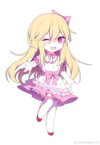 Rating: Safe Score: 28 Tags: chibi dress keisenko thighhighs watermark User: wordlesswind
