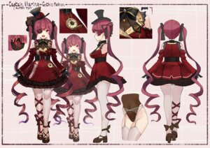 Rating: Questionable Score: 18 Tags: akasa_ai character_design garter_belt gothic_lolita heels hololive houshou_marine leotard lolita_fashion stockings thighhighs User: zyll