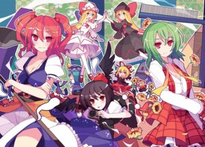 Rating: Safe Score: 25 Tags: cleavage ideolo kazami_yuuka lily_black lily_white medicine_melancholy onozuka_komachi shameimaru_aya shanghai shikieiki_yamaxanadu su-san touhou User: fireattack