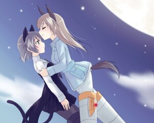 Rating: Safe Score: 14 Tags: animal_ears eila_ilmatar_juutilainen kanata9 nekomimi pantyhose sanya_v_litvyak strike_witches tail User: Radioactive