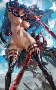 Rating: Explicit Score: 8 Tags: garter kill_la_kill matoi_ryuuko naked_cape nipples pubic_hair pussy sakimichan stockings sword thighhighs uncensored User: BattlequeenYume