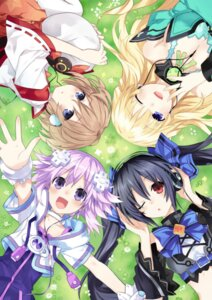 Rating: Safe Score: 64 Tags: blanc choujigen_game_neptune cleavage flankoi headphones kami_jigen_game_neptune_v neptune noire vert User: echidna_vita