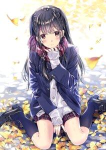 Rating: Safe Score: 50 Tags: heels kobayashi_chisato seifuku sweater User: Mr_GT
