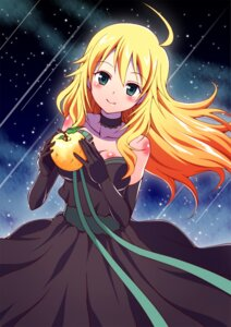 Rating: Safe Score: 24 Tags: cleavage dress hoshii_miki ookami_maito the_idolm@ster User: charunetra