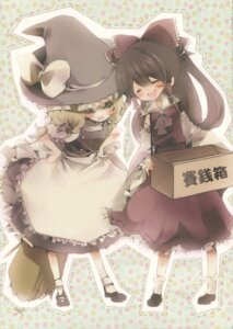 Rating: Safe Score: 4 Tags: hakurei_reimu kirisame_marisa niji_no_saki tagme touhou User: Radioactive