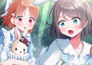 Rating: Safe Score: 22 Tags: animal_ears bunny_ears hina_(hinalovesugita) love_live!_sunshine!! takami_chika watanabe_you User: RyuZU
