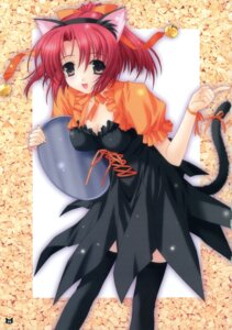 Rating: Safe Score: 30 Tags: animal_ears cleavage kimizuka_aoi nekomimi tail thighhighs waitress User: blooregardo